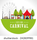 carnival design over white...   Shutterstock .eps vector #242839981