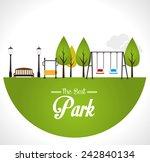 park design over white... | Shutterstock .eps vector #242840134