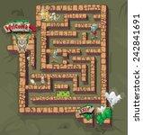 maze of horror | Shutterstock .eps vector #242841691