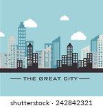 urban design over blue design ... | Shutterstock .eps vector #242842321