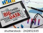 big data word cloud with... | Shutterstock . vector #242852335