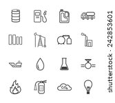 petroleum icons | Shutterstock .eps vector #242853601