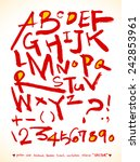 alphabet and numbers   hand... | Shutterstock .eps vector #242853961