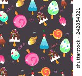 cute background with ice cream... | Shutterstock .eps vector #242854321
