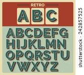 retro vector latin type  font   ... | Shutterstock .eps vector #242857525