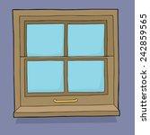 single hand drawn cartoon...   Shutterstock .eps vector #242859565