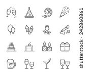 party icons and celebration... | Shutterstock .eps vector #242860861