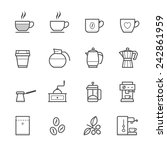coffee icons | Shutterstock .eps vector #242861959