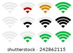 signal strength indicator... | Shutterstock .eps vector #242862115
