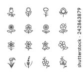 flower icons for pattern | Shutterstock .eps vector #242863879