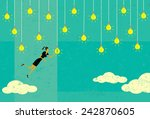 choosing a profitable idea... | Shutterstock .eps vector #242870605