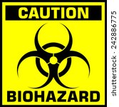 Caution Biohazard Sign. Vector...