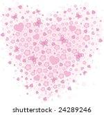 vector valentine background... | Shutterstock .eps vector #24289246
