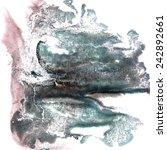 art green  brown watercolor ink ... | Shutterstock . vector #242892661