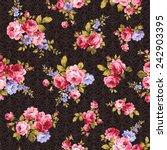pattern of rose  | Shutterstock .eps vector #242903395