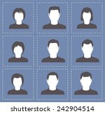 people profile silhouettes... | Shutterstock .eps vector #242904514