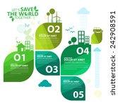 green infographic | Shutterstock .eps vector #242908591