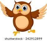 Happy Owl Cartoon