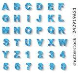 alphabet new style modern blue | Shutterstock . vector #242919631