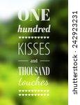 vector typography on blur...   Shutterstock .eps vector #242923231