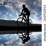 Silhouette Of The Cyclist...