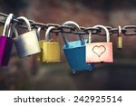 Series Of Colored Padlocks