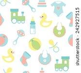 seamless vector baby pattern  | Shutterstock .eps vector #242927515