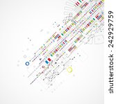 abstract technology background... | Shutterstock .eps vector #242929759
