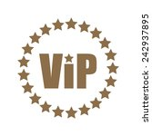 vip icon with circle of stars ... | Shutterstock .eps vector #242937895