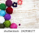 color woolen clews for knitting ...   Shutterstock . vector #242938177