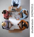 business people sitting and... | Shutterstock . vector #242942311