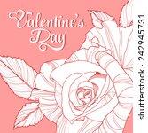 valentine's day lettering... | Shutterstock .eps vector #242945731