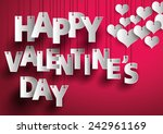 happy valentines day text on... | Shutterstock .eps vector #242961169