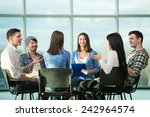 circle of trust. group of... | Shutterstock . vector #242964574
