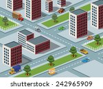 isometric  image of a modern... | Shutterstock . vector #242965909