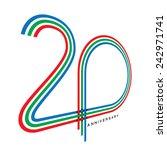 20 years anniversary  concept... | Shutterstock .eps vector #242971741