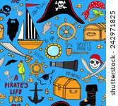 seamless pattern with pirate... | Shutterstock .eps vector #242971825