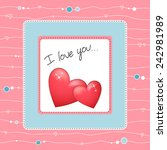 beautiful heart | Shutterstock .eps vector #242981989