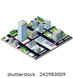 view of a city block to the... | Shutterstock . vector #242983009