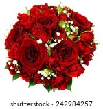 Stock photo bridal bouquet of red roses 242984257