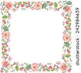 decorative floral frame  | Shutterstock .eps vector #242984659