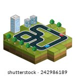 track racing with cars and... | Shutterstock . vector #242986189