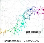 abstract network connection.... | Shutterstock .eps vector #242990647