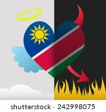namibia background of a heart... | Shutterstock .eps vector #242998075