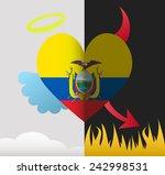 ecuador background of a heart... | Shutterstock .eps vector #242998531