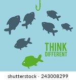 think different design  vector...   Shutterstock .eps vector #243008299