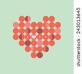retro heart from circles | Shutterstock .eps vector #243013645