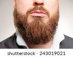 perfect beard. close up of... | Shutterstock . vector #243019021