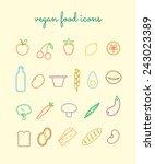 vegetarian food icon set....   Shutterstock .eps vector #243023389