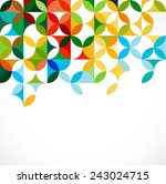 abstract colorful geometric or... | Shutterstock .eps vector #243024715